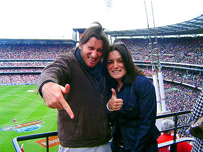 Adam and Tam at the MCG